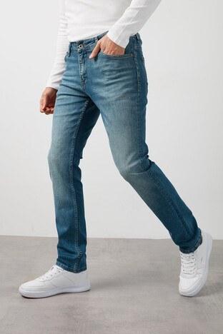 Buratti - Buratti Pamuklu Yüksek Bel Dar Kesim Jeans Erkek Kot Pantolon 7429F195NEWARTOS MAVİ