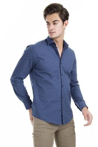 Buratti Polo Club Erkek Gömlek CF19S110003 LACİVERT