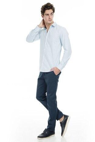 Buratti Polo Club Erkek Gömlek CF19S110017 MAVİ