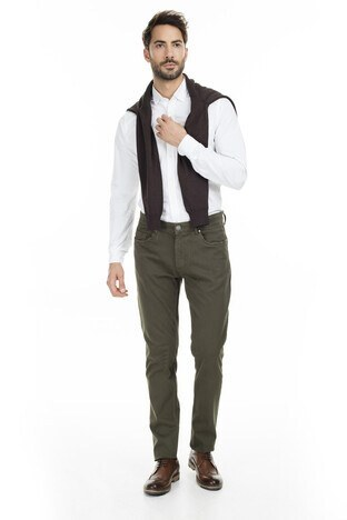 Buratti Polo Club - Buratti Polo Club Jeans Erkek Pamuklu Pantolon 1931002PO HAKİ