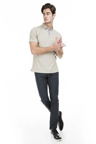 Buratti Polo Club - Buratti Polo Club Jeans Erkek Pamuklu Pantolon NOKTALI ANTRASİT