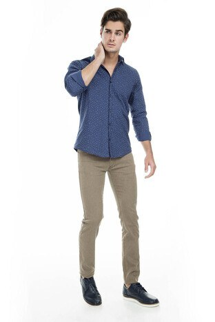 Buratti Polo Club - Buratti Polo Club Jeans Erkek Pamuklu Pantolon SULFUR CAMEL