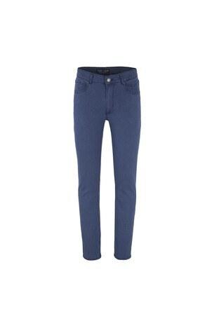 Buratti Polo Club - Buratti Polo Club Jeans Erkek Pamuklu Pantolon SULFUR İNDİGO