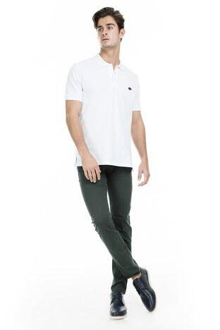 Buratti Polo Club - Buratti Polo Club Jeans Erkek Pamuklu Pantolon SULFUR KOYU YEŞİL