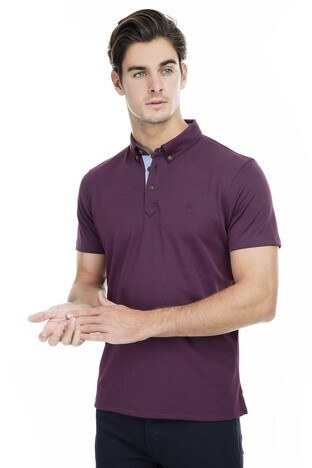Buratti - Buratti Polo Erkek T Shirt 43619063 BORDO