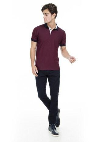 Buratti Polo Erkek T Shirt 43619068 BORDO