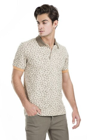 Buratti - Buratti Polo Erkek T Shirt 43619069 BEJ