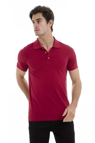 Buratti Polo Erkek T Shirt 43619090 BORDO