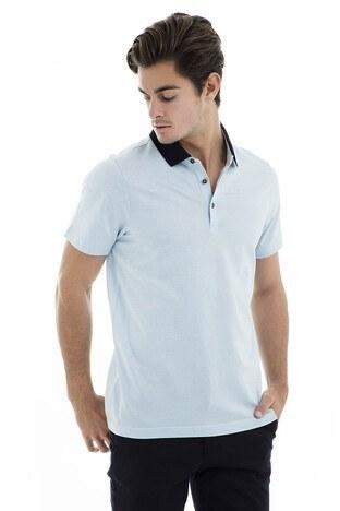 Buratti - Buratti Polo Yaka Erkek T Shirt 5911015 AÇIK MAVİ