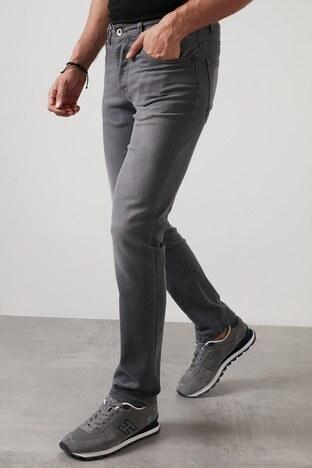 Buratti Regular Fit Boru Paça Pamuklu Jeans Erkek Kot Pantolon 7283F987PORTO GRİ