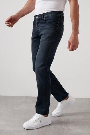 Buratti - Buratti Regular Fit Boru Paça Pamuklu Jeans Erkek Kot Pantolon 7420H057PORTO KOYU MAVİ