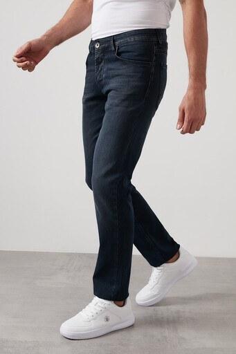 Buratti Regular Fit Boru Paça Pamuklu Jeans Erkek Kot Pantolon 7420H057PORTO KOYU MAVİ