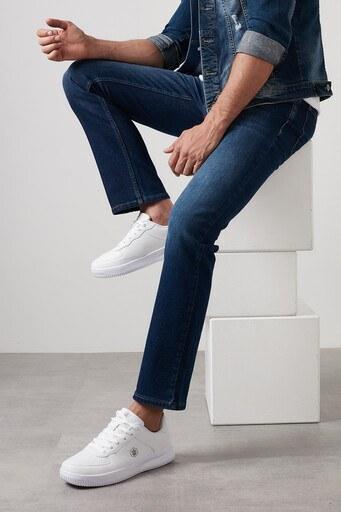 Buratti Regular Fit Boru Paça Pamuklu Jeans Erkek Kot Pantolon 7420S158PORTO KOYU MAVİ