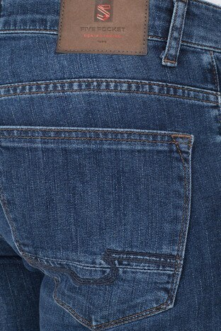 Buratti Regular Fit Jeans Erkek Kot Pantolon 7284F838PORTO KOYU MAVİ