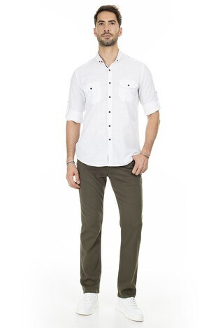 Buratti Regular Fit Jeans Erkek Kot Pantolon 7301F062KING KOYU HAKİ