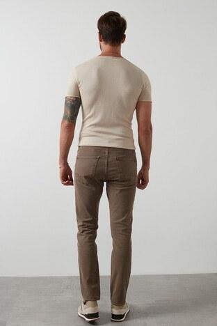 Buratti Regular Fit Pamuklu Jeans Erkek Kot Pantolon 7267F4133ZAGOR KAHVE