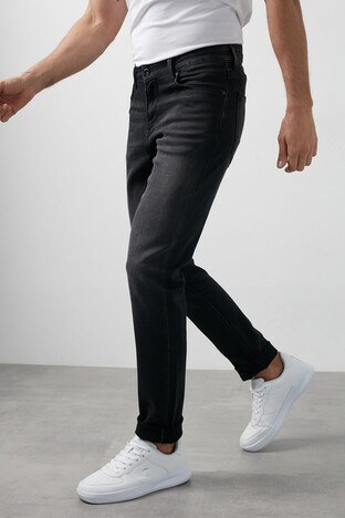 Buratti - Buratti Regular Fit Pamuklu Jeans Erkek Kot Pantolon 7267H997ZAGOR SİYAH