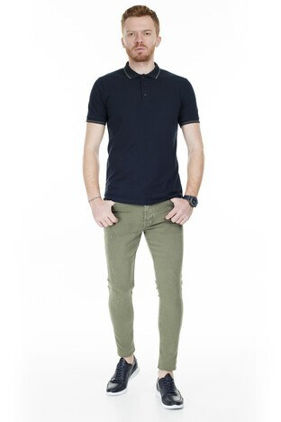Buratti Skinny Jeans Erkek Kot Pantolon 7302F7332GHOST KOYU HAKİ