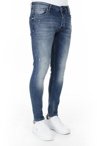 Buratti Skinny Jeans Erkek Kot Pantolon 7302N940GHOST KOYU MAVİ