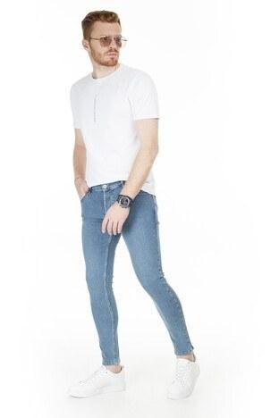 Buratti Skinny Jeans Erkek Kot Pantolon 7307S9132GHOST AÇIK MAVİ
