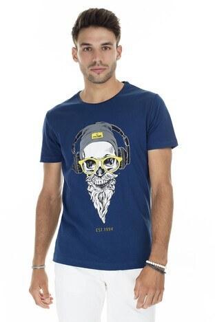 Buratti Slim Fit Baskılı Bisiklet Yaka Erkek T Shirt ABY38107LNS PARLEMENT