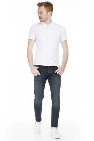 Buratti - Buratti Slim Fit Dar Paça Pamuklu Jeans Erkek Kot Pantolon 7287U868BARTEZ AÇIK LACİVERT