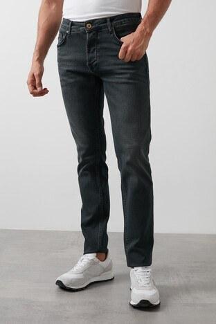 Buratti - Buratti Slim Fit Dar Paça Pamuklu Jeans Erkek Kot Pantolon 7287U868BARTEZ KOYU MAVİ