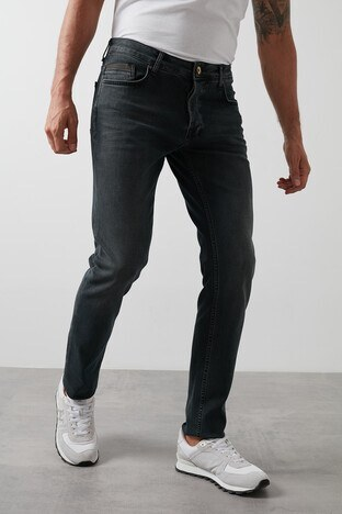 Buratti Slim Fit Dar Paça Pamuklu Jeans Erkek Kot Pantolon 7287U868BARTEZ KOYU MAVİ