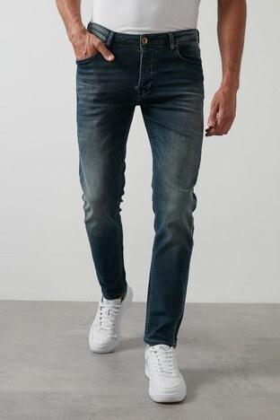 Buratti - Buratti Slim Fit Dar Paça Pamuklu Jeans Erkek Kot Pantolon 7291H884BARTEZ LACİVERT