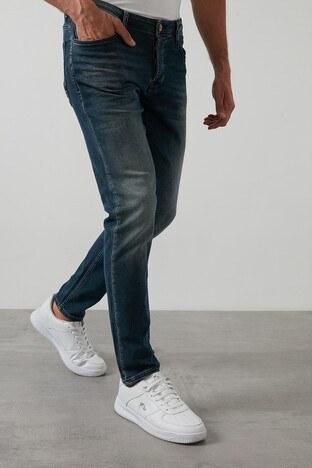 Buratti Slim Fit Dar Paça Pamuklu Jeans Erkek Kot Pantolon 7291H884BARTEZ LACİVERT