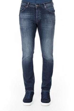 Buratti Slim Fit Dar Paça Pamuklu Jeans Erkek Kot Pantolon 7297G687ARTOS KOYU MAVİ