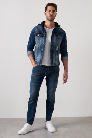 Buratti Slim Fit Dar Paça Pamuklu Jeans Erkek Kot Pantolon 7401E050BARTEZ LACİVERT