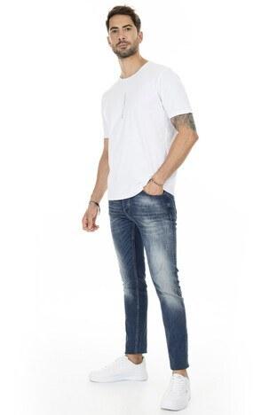 Buratti Slim Fit Jeans Erkek Kot Pantolon 7290F218BARTEZ KOYU MAVİ