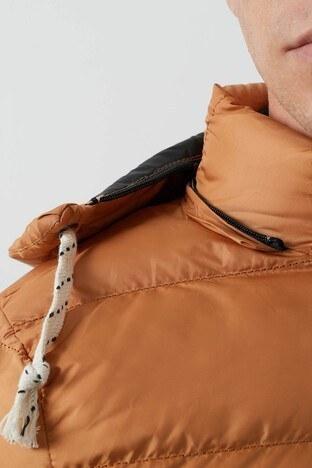 Buratti Slim Fit Kapüşonlu Cepli Şişme Erkek Mont 5761010 HARDAL