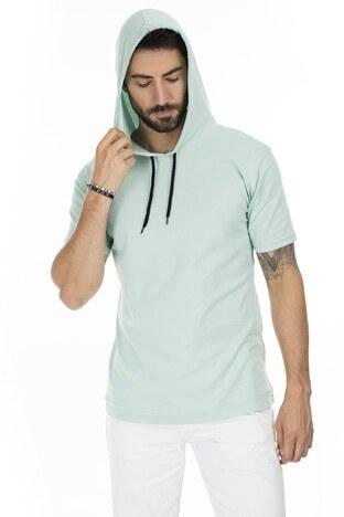 Buratti Slim Fit Kapüşonlu Erkek T Shirt 5412021 MİNT