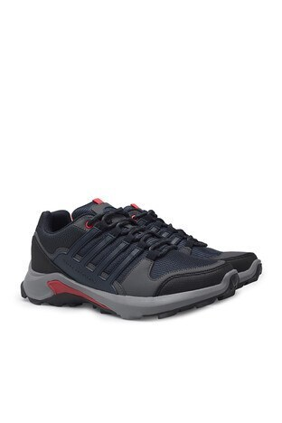Buratti Su Geçirmez Memory Foam Kışlık Erkek Ayakkabı TROY B LACİVERT-KIRMIZI
