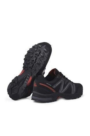 Buratti Suya Dayanıklı Memory Foam Kışlık Erkek Ayakkabı DRAVENK SİYAH-KIRMIZI