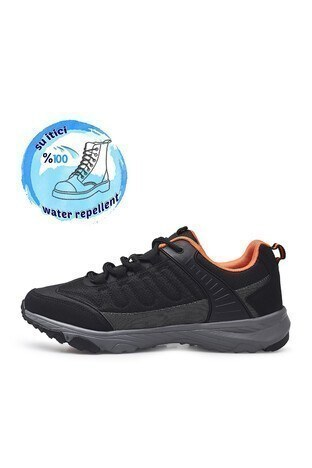 Buratti Suya Dayanıklı Memory Foam Kışlık Erkek Ayakkabı ZED SİYAH-FÜME