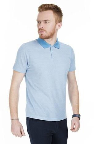 Buratti T Shirt Erkek Polo 566CF00126 AÇIK MAVİ