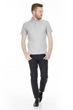 Buratti T Shirt Erkek Polo 566CF00127 GRİ