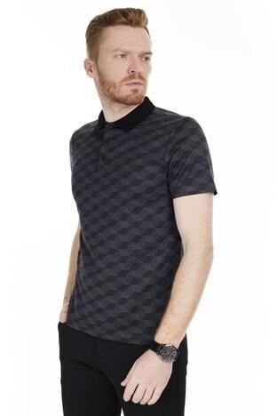 Buratti T Shirt Erkek Polo 566CF0012A SİYAH