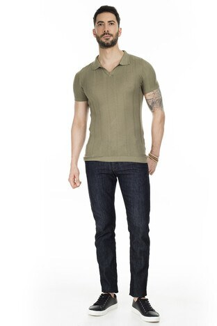 Buratti Triko T Shirt Erkek Polo ABK61002LNS HAKİ