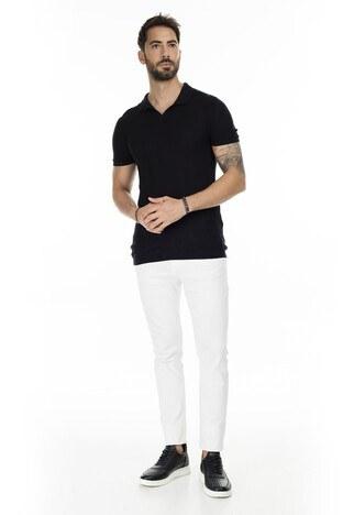 Buratti Triko T Shirt Erkek Polo ABK61002LNS SİYAH