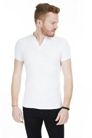 Buratti V Yaka Erkek T Shirt 538324 BEYAZ