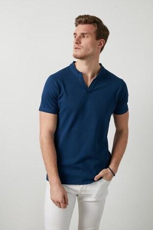 Buratti - Buratti Pamuklu V Yaka Erkek T Shirt CF20S214365 LACİVERT