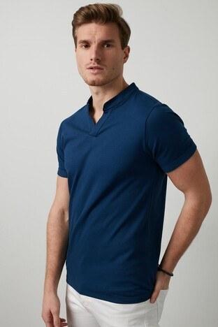 Buratti Pamuklu V Yaka Erkek T Shirt CF20S214365 LACİVERT