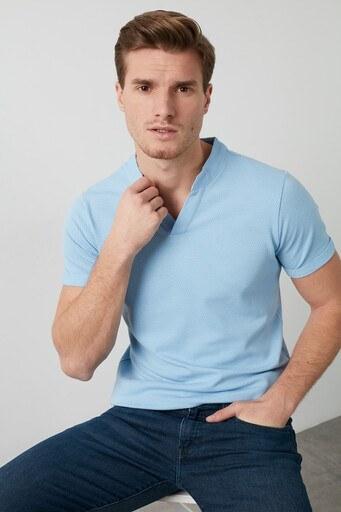 Buratti Pamuklu V Yaka Erkek T Shirt CF20S214365 MAVİ