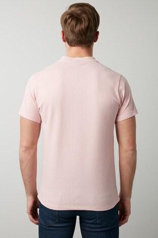 Buratti Pamuklu V Yaka Erkek T Shirt CF20S214365 PUDRA
