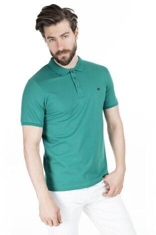 Buratti - Buratti Pamuklu Yaka T Shirt Erkek Polo 0438101 YEŞİL
