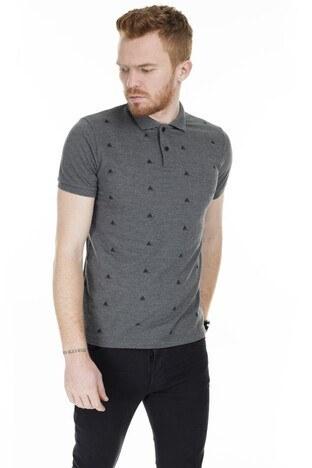 Buratti - Buratti Yaka T Shirt Erkek Polo 4362056 ANTRASİT